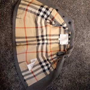 Burberry childrens wool peacoat